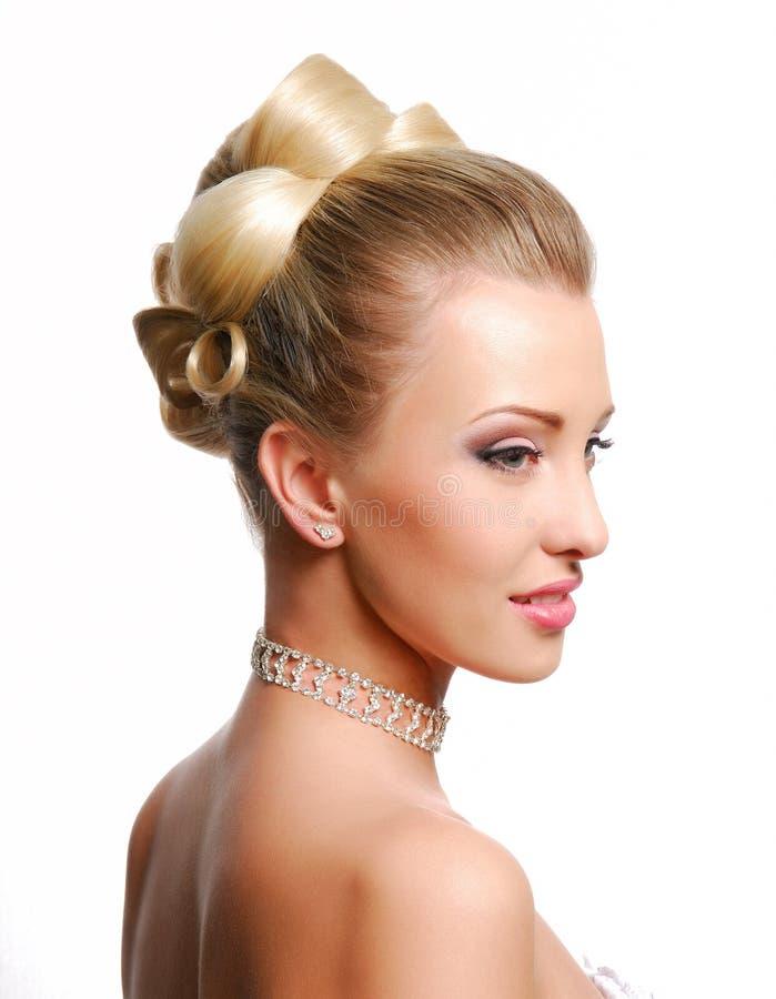 Style Wedding Hairstyle Stock Photography