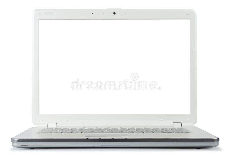 Style White Laptop stock images