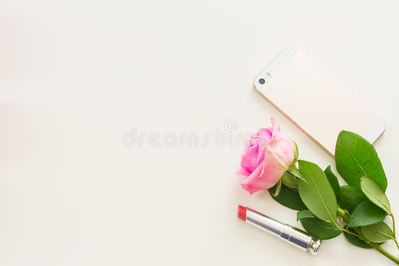Styled desktop scene royalty free stock photos