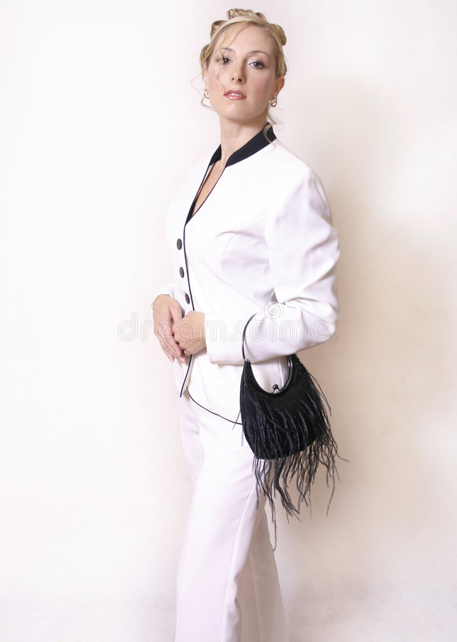 Download Styled elegance stock image. Image of fashion, hair, suit - 46651