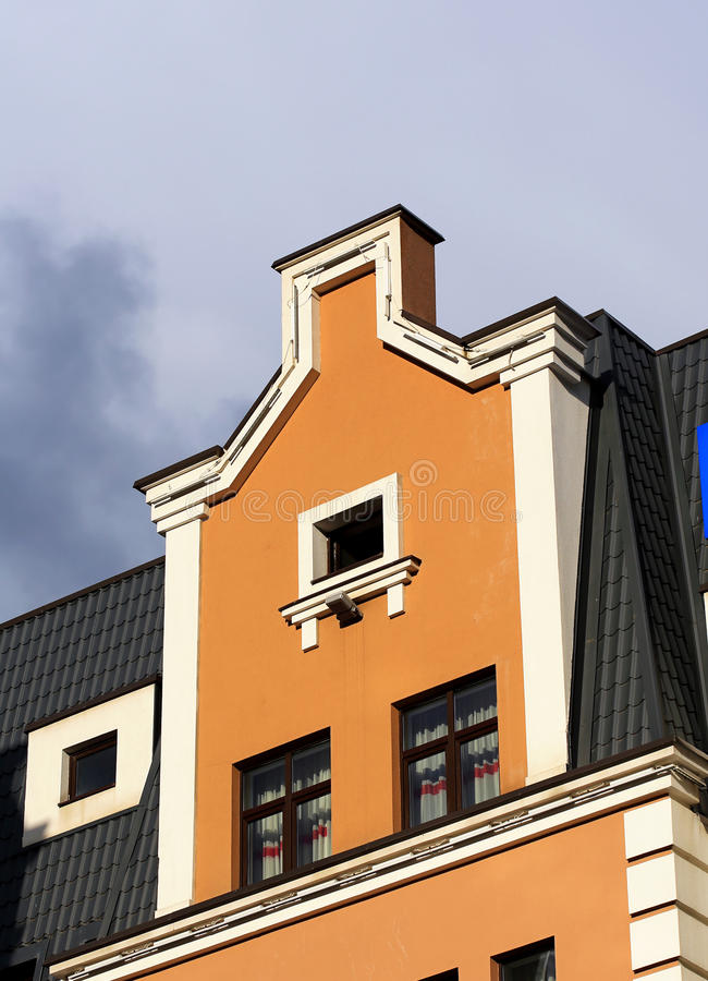 Styled house wall royalty free stock photos