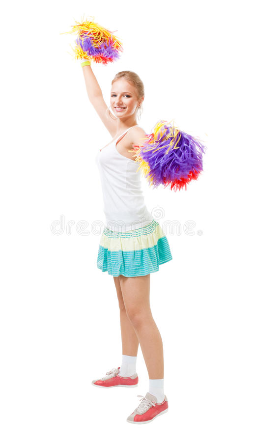 Download Styled Professional Woman Cheer Leader Stock Image - Image: 12284627
