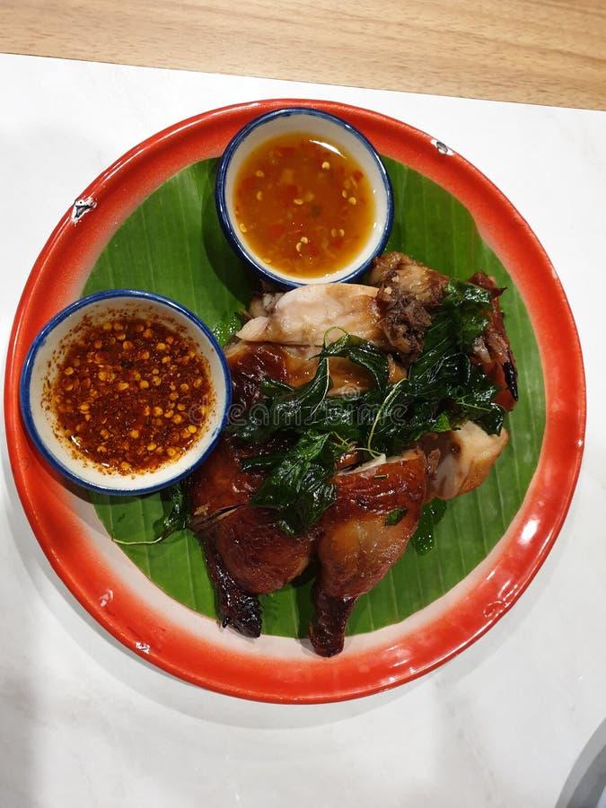 Styles de la Thaïlande de gril de poulet image libre de droits