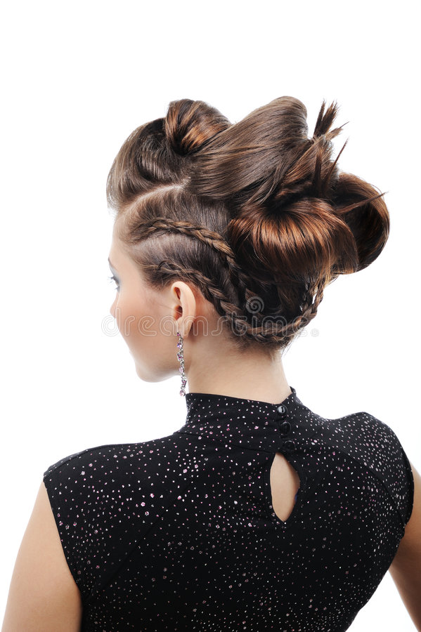Styling hairstyle royalty free stock photography