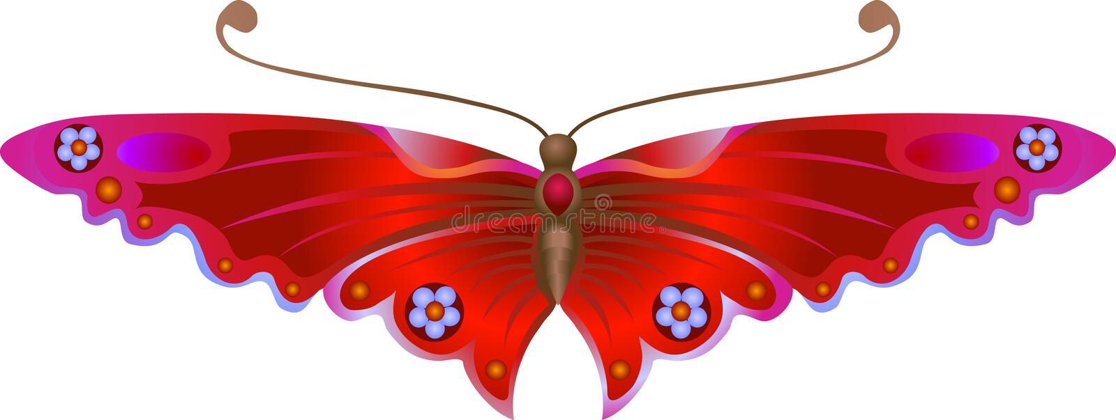 Stylised Butterfly. An illustration of a beautiful Stylised Butterfly. No meshes used stock illustration