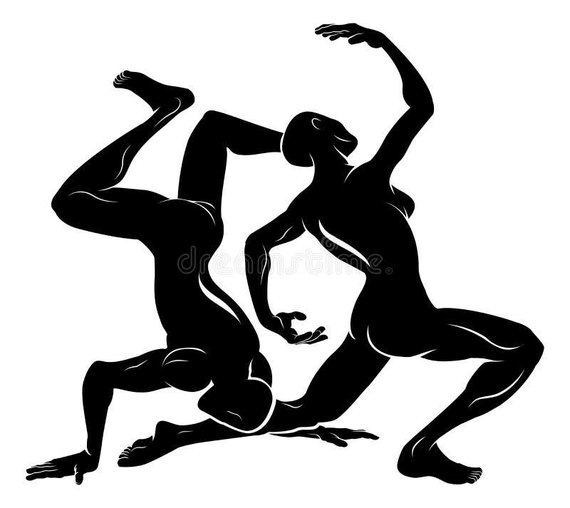 Stylised dansareillustration vektor illustrationer