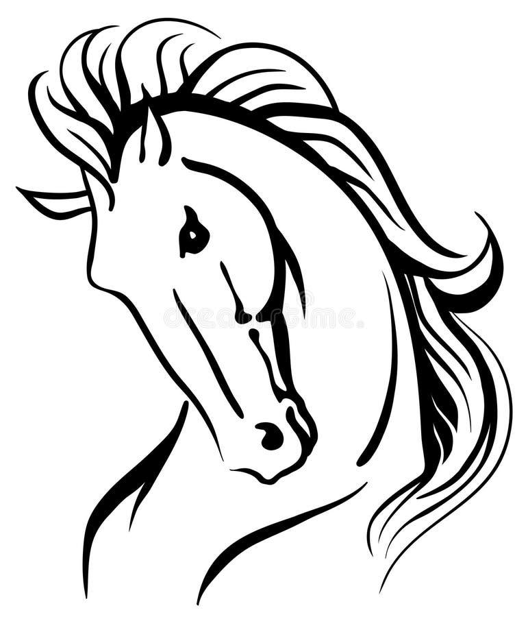 Stylised hästhuvud royaltyfri illustrationer