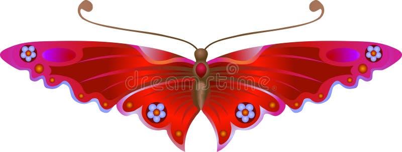 stylised fjäril stock illustrationer