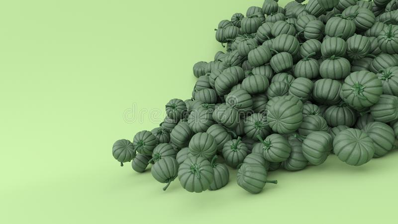 Stylised Jack-o-lantern pumpkin. 3d render of Stylised Jack-o-lantern pumpkin stock photos