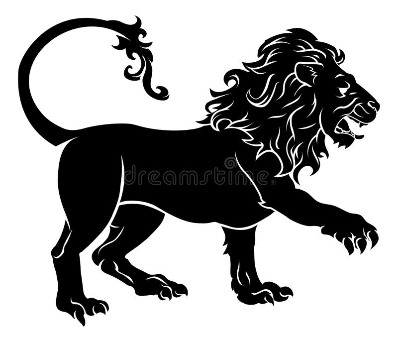 Stylised Lionillustration stock illustrationer