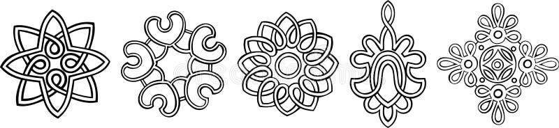 stylised medaljonger vektor illustrationer