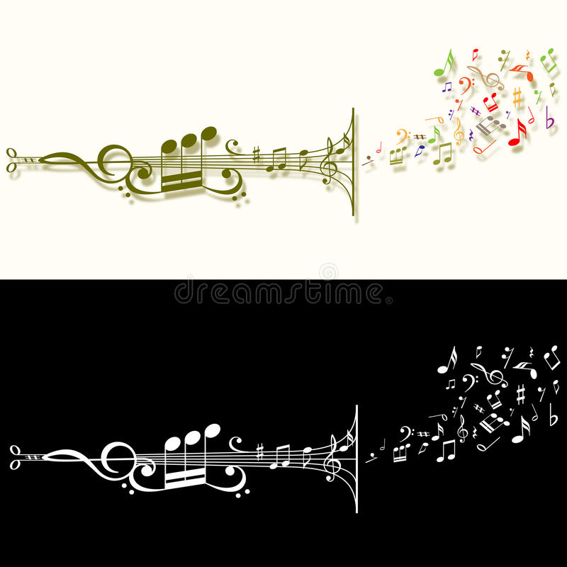 Stylised musical pipe royalty free stock image
