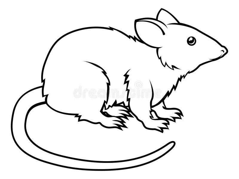Line Drawing Rat : Stylised rat illustration stock vector. of rodent