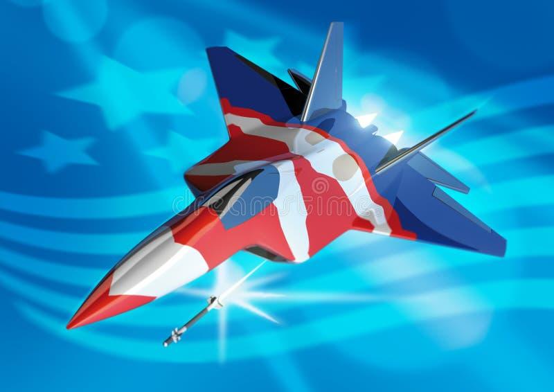 stylised rovfågel f22 vektor illustrationer