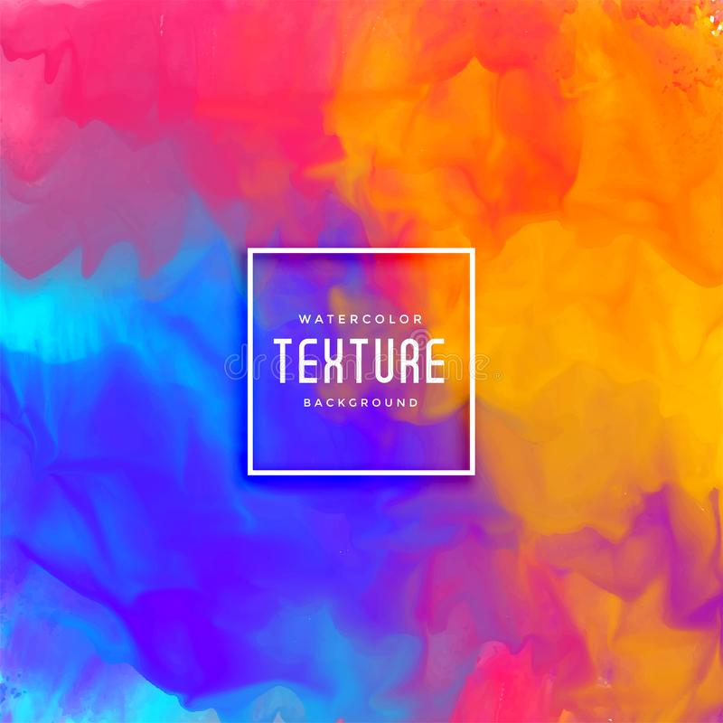 Stylish abstract watercolor texture background stock illustration