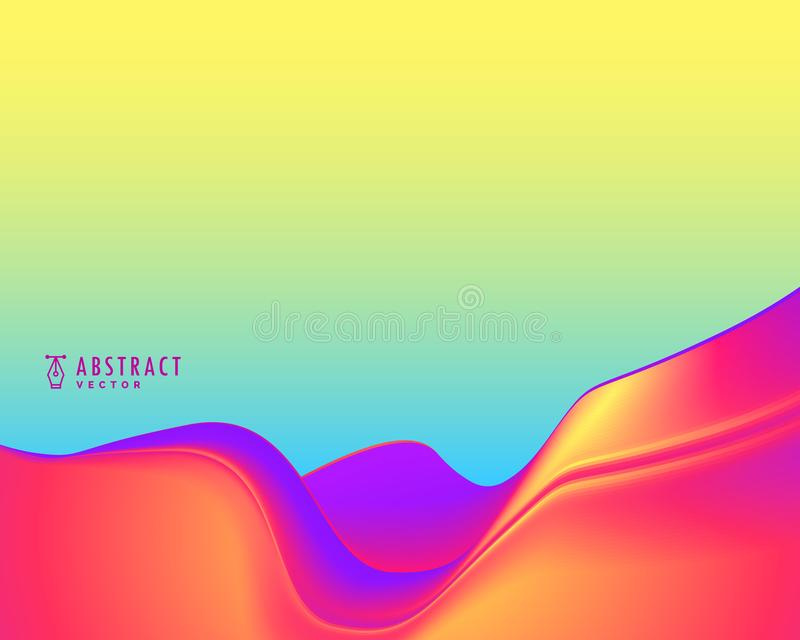 Stylish abstract wavy background in vibrant colors. Illustration vector illustration