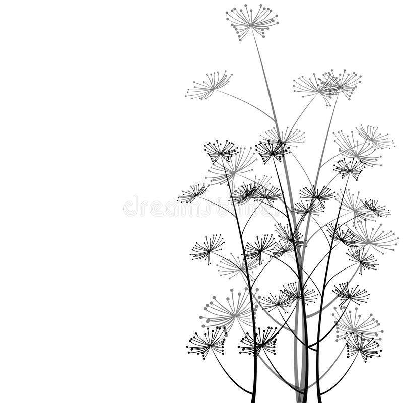 Stylish background with delicate flowers stock illustration