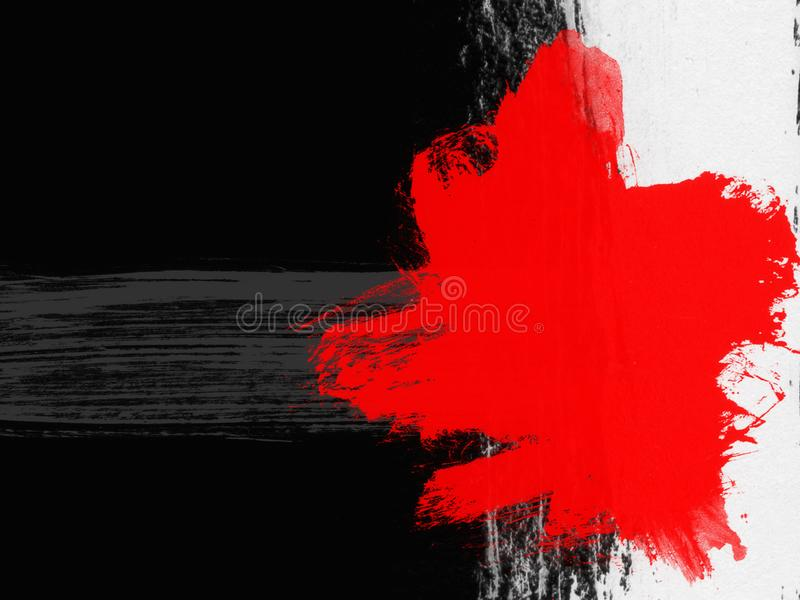 Stylish backgrounds in grunge style in black and red colors. Useful for interesting design projects vector illustration