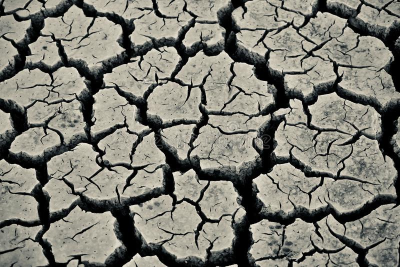 Grey coloured dried isolated soil stock photograph. Stylish and beautiful grey coloured dried isolated soil surface with cracks stock photograph royalty free stock image