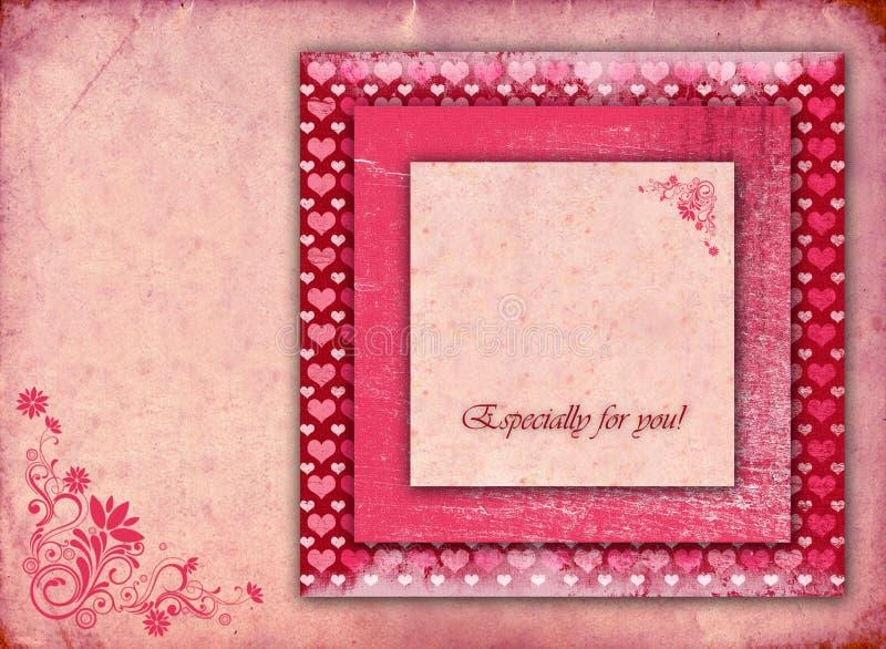Stylish beautiful Valentine card stock illustration
