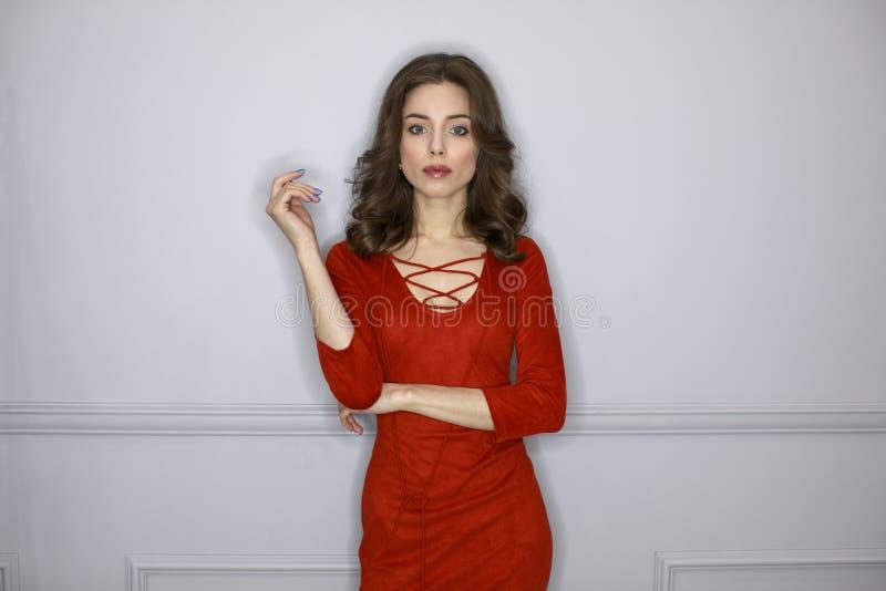 Stylish beautiful woman with day make-up stock photos