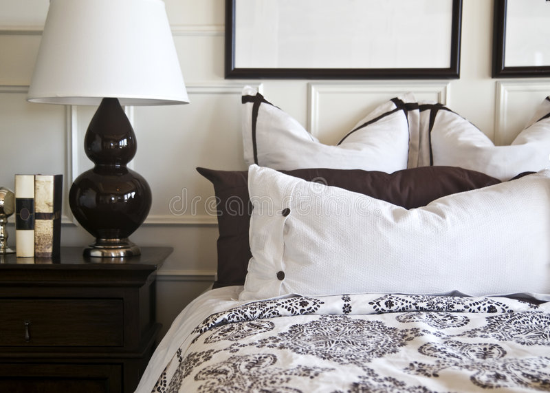 Stylish Bedroom Interior Design royalty free stock images