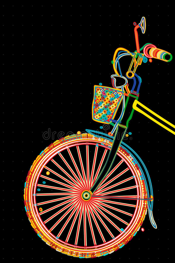 Download Stylish bicycle stock vector. Image of backdrop, cycling - 27322085