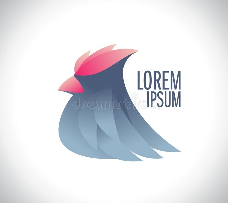 Stylish bird logo vector illustration
