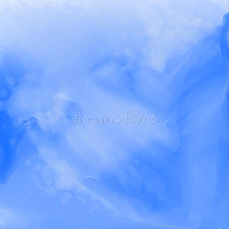 Stylish blue abstract watercolor texture royalty free illustration
