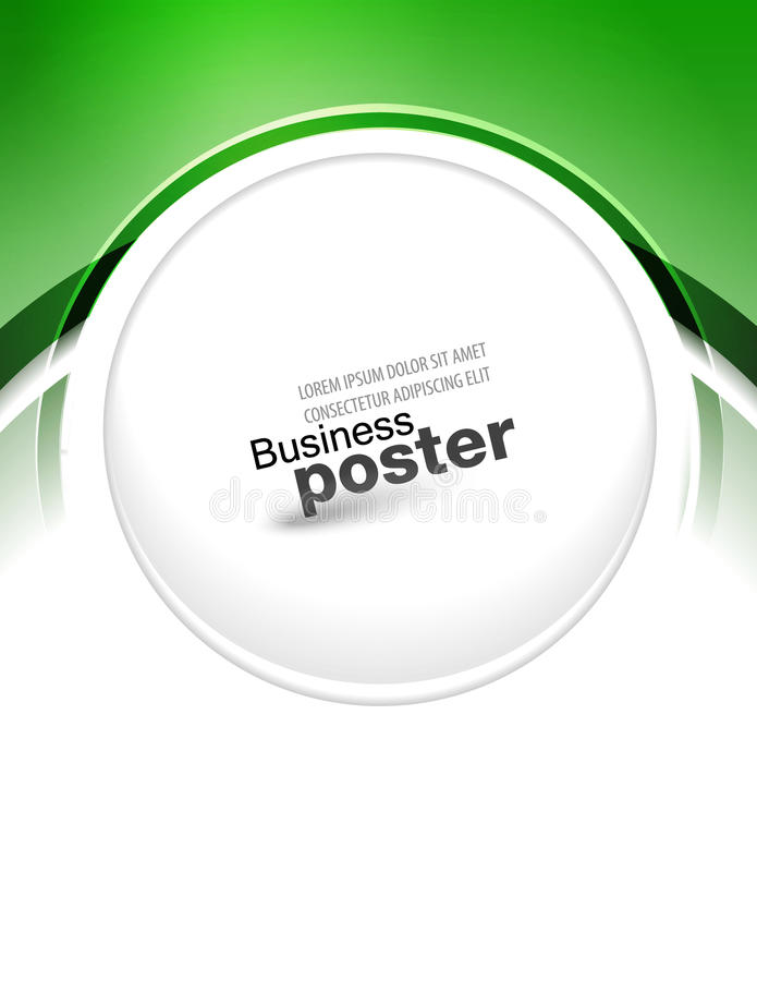 Stylish Blue Presentation Of Business Poster Stock Images