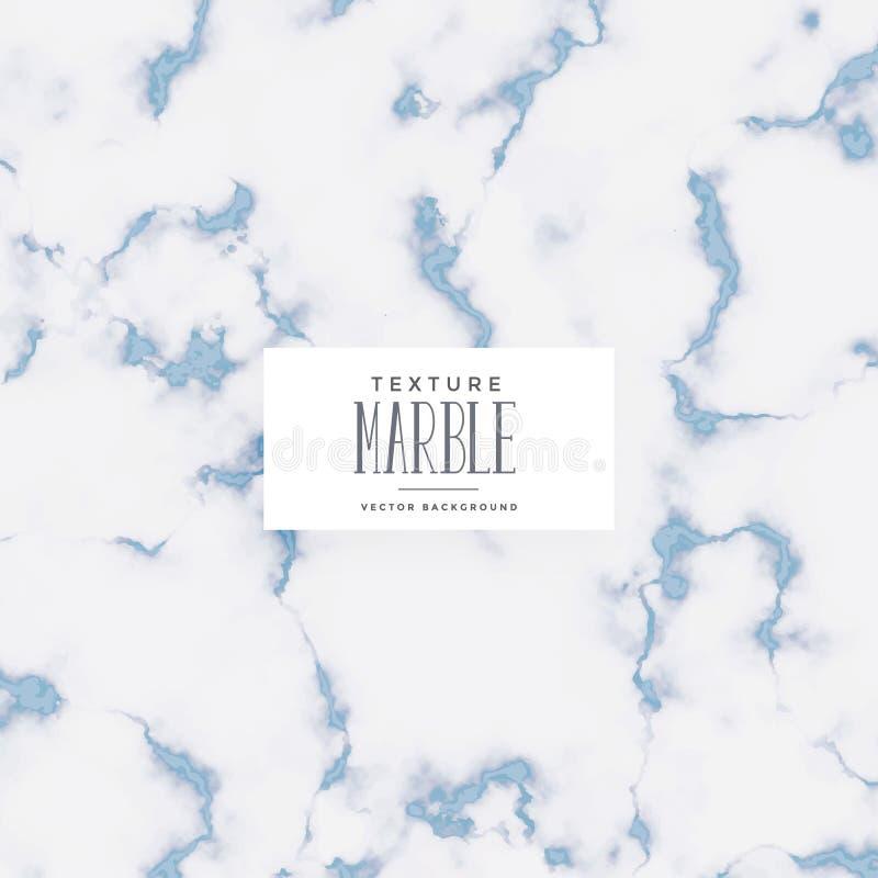 Stylish blue soft marble texture background vector illustration