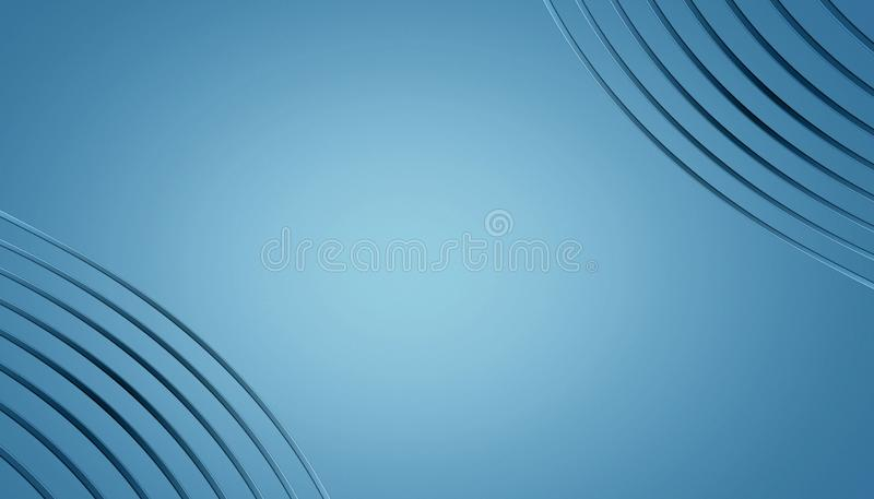 Stylish blue and white abstract curves wallpaper frame background with copy space. vector illustration