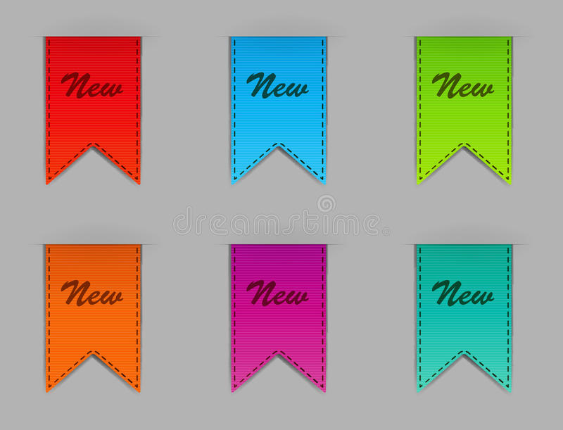 Download Stylish bookmarks. Vector stock vector. Image of image - 28774568