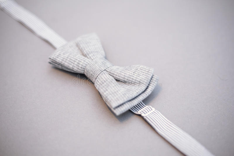 Stylish bowtie soft cloth ribbon. Classic groom accessories. Set of men`s stylish vintage. Male decoration for couple. Jewelry for man. Groom`s morning royalty free stock image