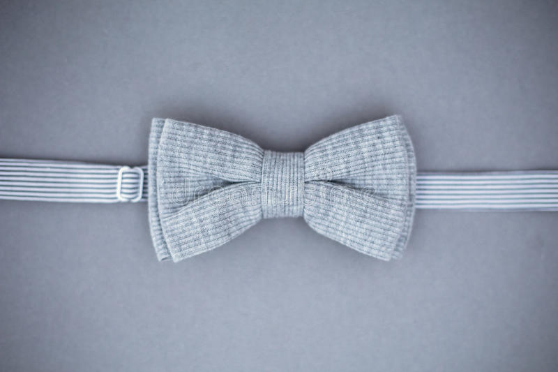 Stylish bowtie soft cloth ribbon. Classic groom accessories. Set of men`s stylish vintage. Male decoration for couple. Jewelry for man. Groom`s morning royalty free stock images