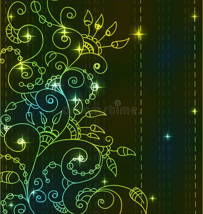 Download Stylish Bright Floral Background Stock Vector - Image: 27069969
