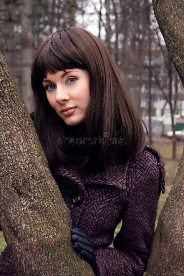 Stylish brunette stock photos
