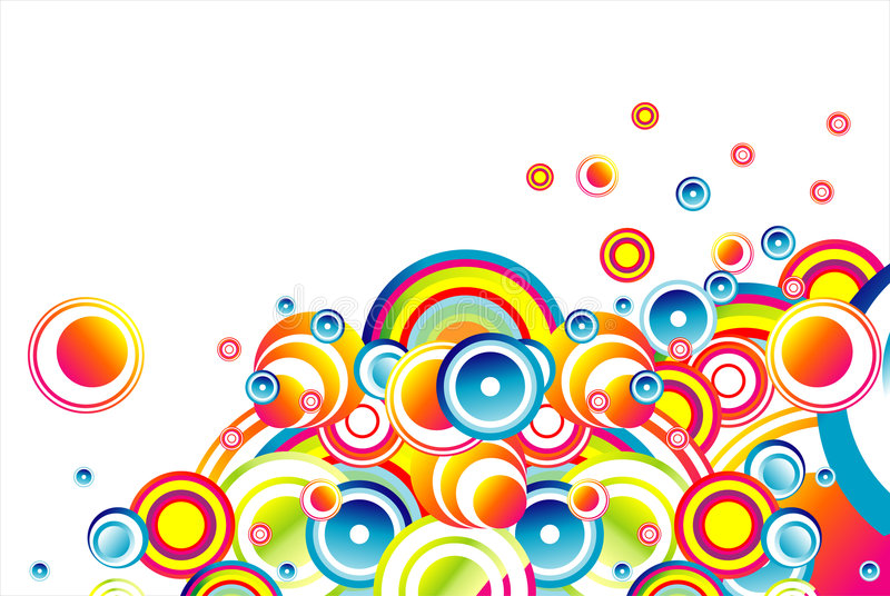 Stylish bubbles background royalty free illustration