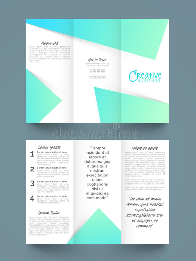 Stylish Business Trifold Or Template Design Stock Illustration