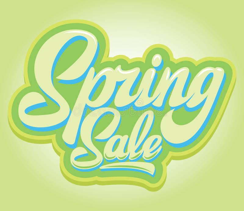 Stylish calligraphic inscription Spring Sale on the background.  vector illustration