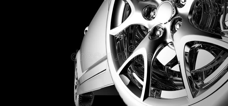 Stylish car model. On black royalty free stock photos