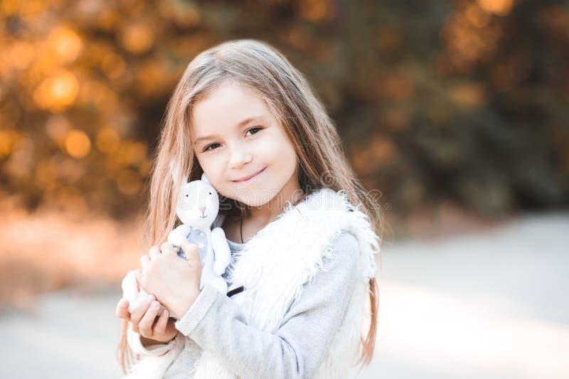 Stylish child outdoors stock photo