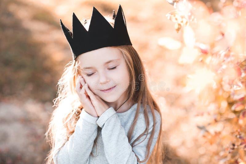Stylish child outdoors royalty free stock image
