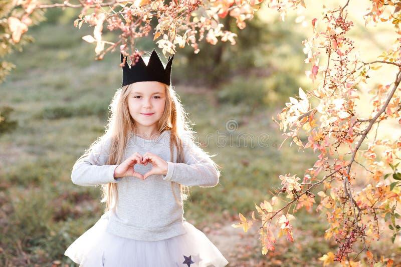 Stylish child outdoors stock photography
