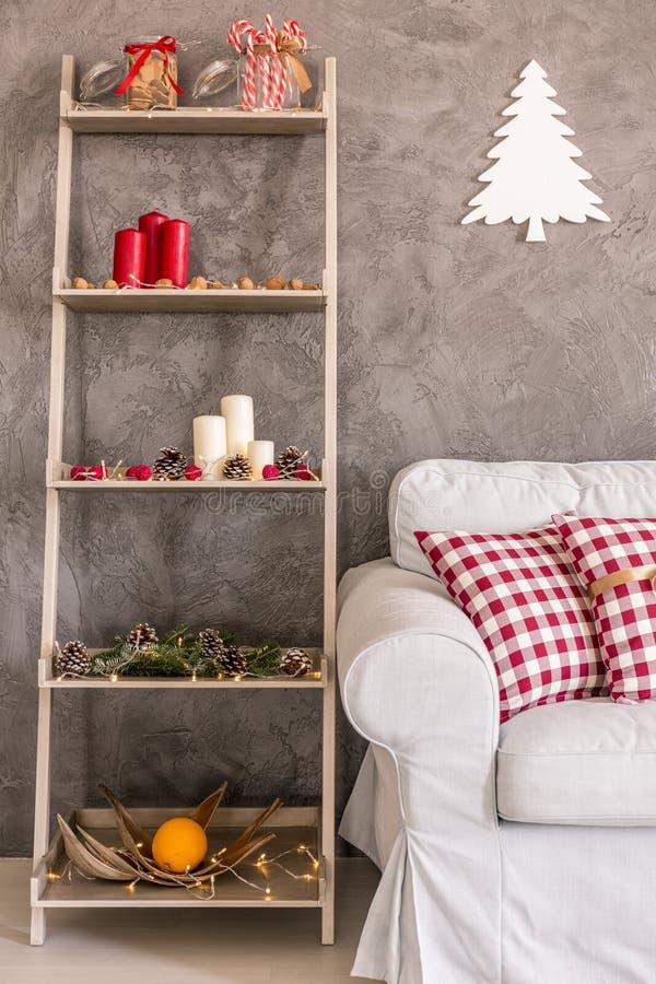 Stylish Christmas decorations stock photos