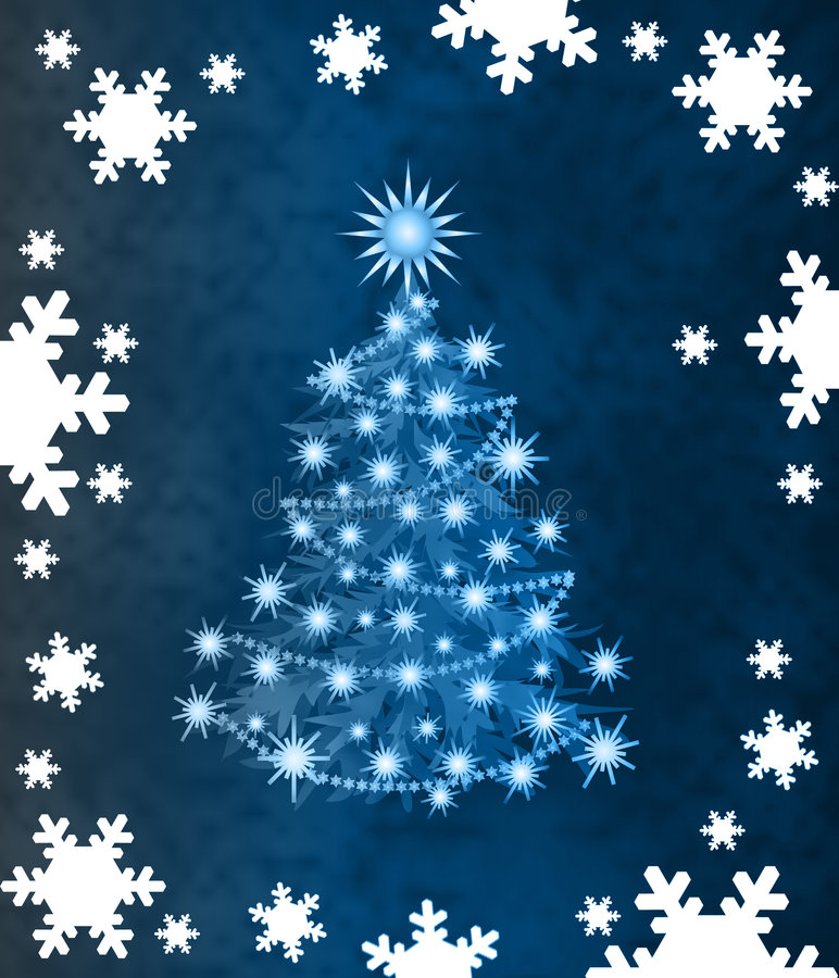 Stylish Christmas tree royalty free stock photo
