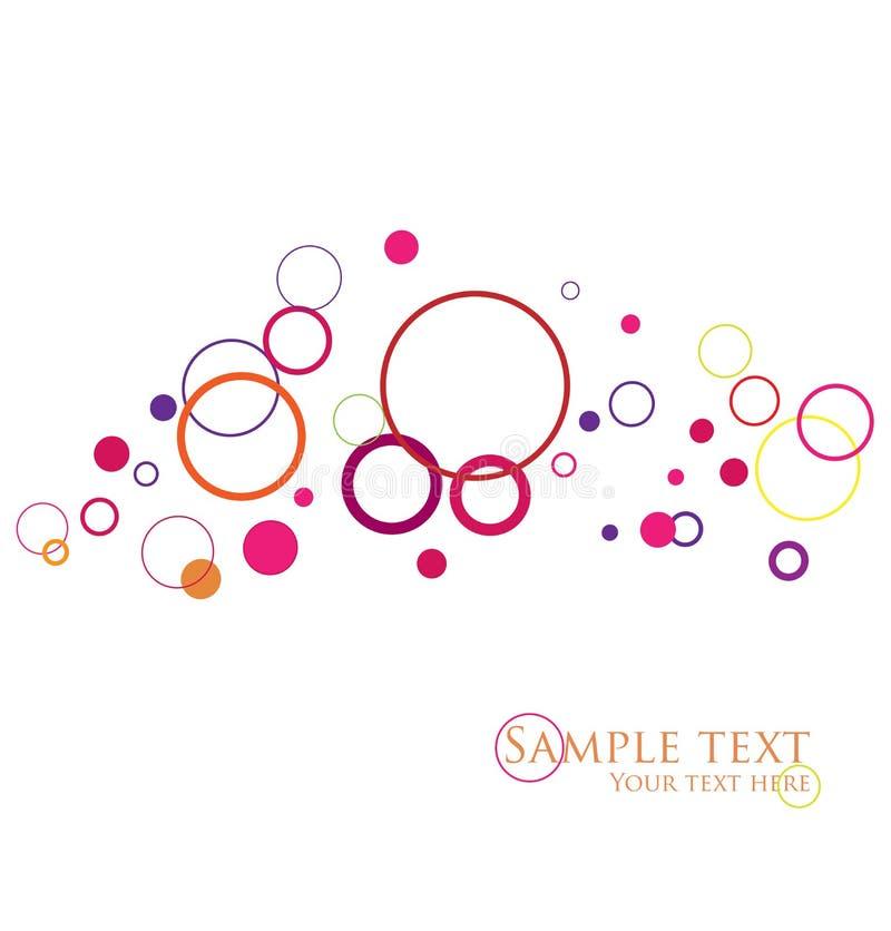 Stylish circles. Stylish colorful circles, easy to edit royalty free illustration