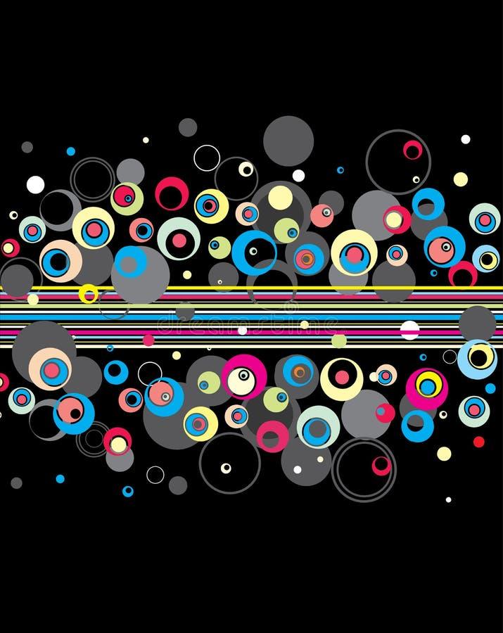 Stylish circles background. Stylish abstract circles background.Vector stock illustration