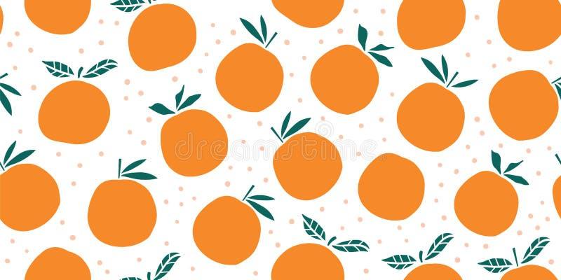 Stylish citrus oranges fruits seamless pattern royalty free stock photo