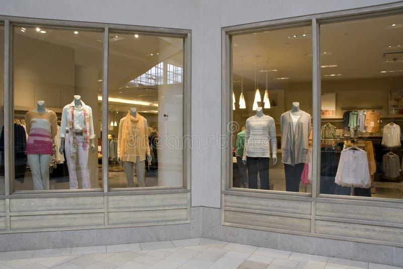 Stylish clothing fashion store royalty free stock images
